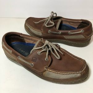 Men's Sperry Sailfish boat deck shoes loafers 10